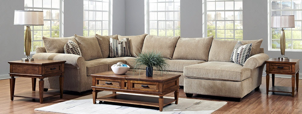 Living Room Furniture Sofas Sectionals Recliners Tables Stunning Brown Sofas In Living Rooms
