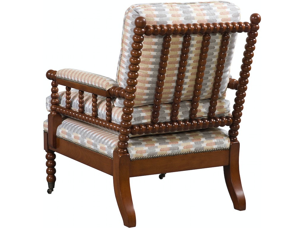Vanguard Living Room Bell Spool Chair 4502 Ch Hickory