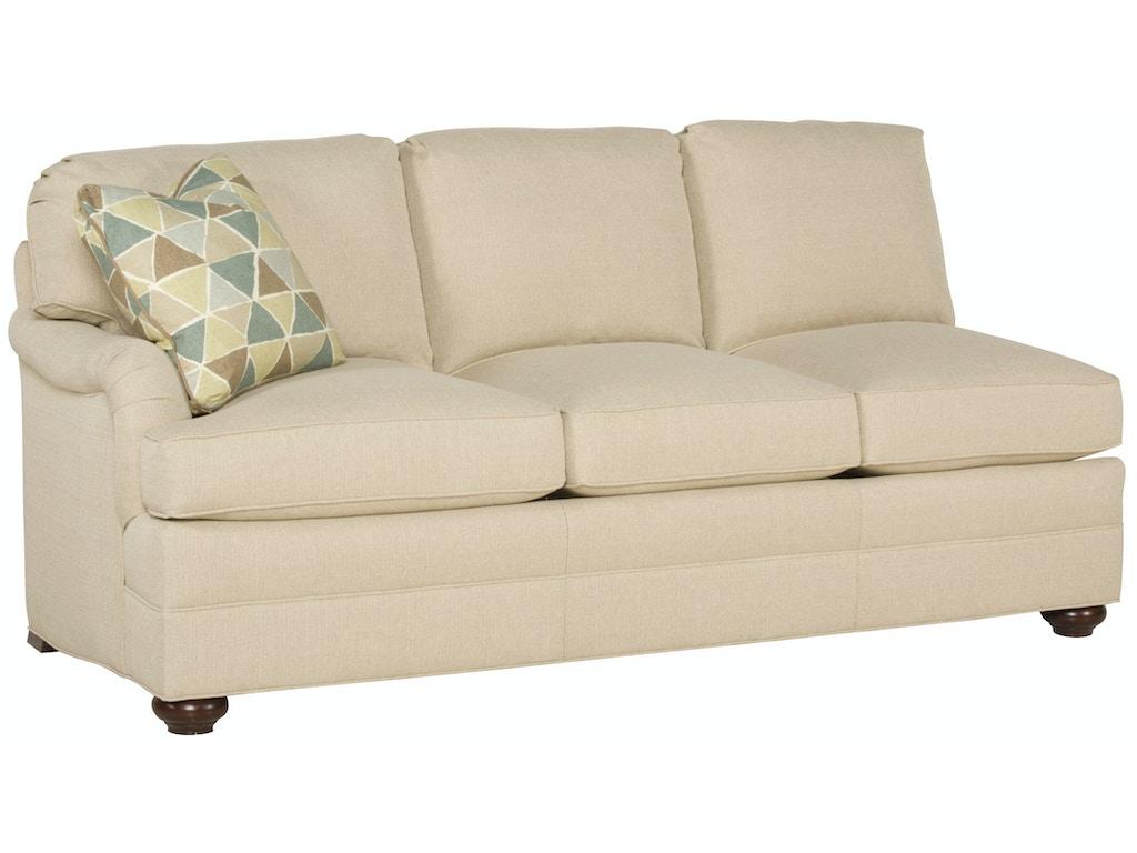Vanguard Living Room East Lake Left Arm Sofa 603 Las Saxon Clark Furniture Patio Design