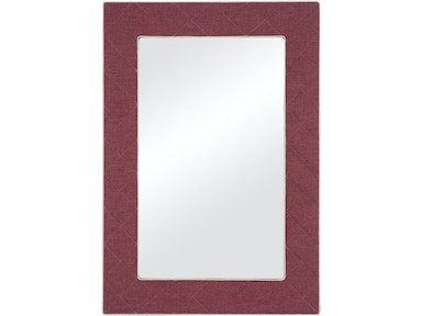 Vanguard Furniture The Brewster Upholstered Button Quilted Mirror