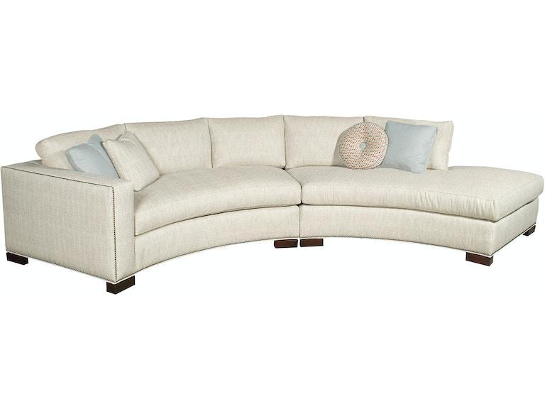 Vanguard furniture living room bennett left right arm for One armed sofa called