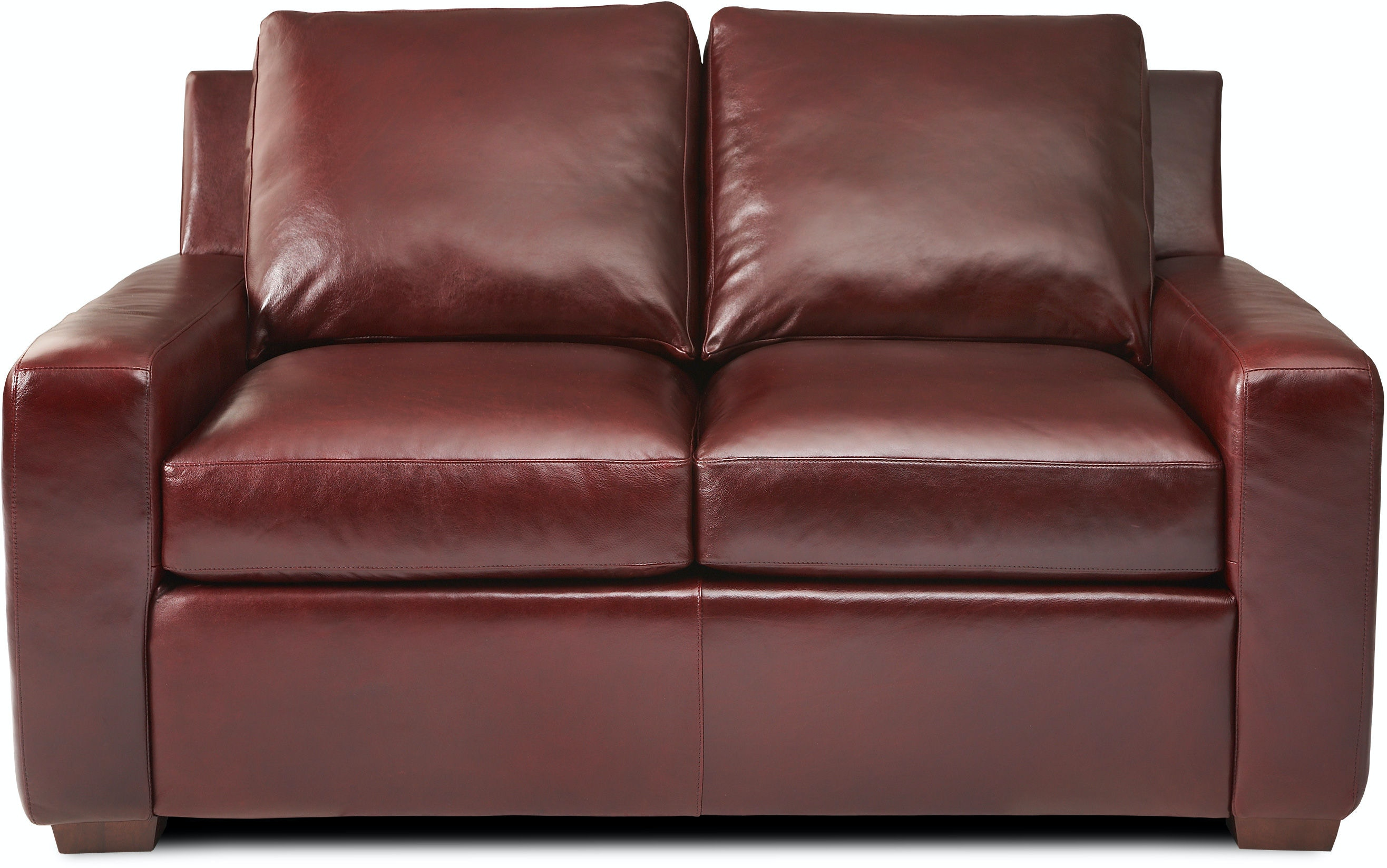 American Leather Living Room Two Cushion Loveseat Lis Lvs