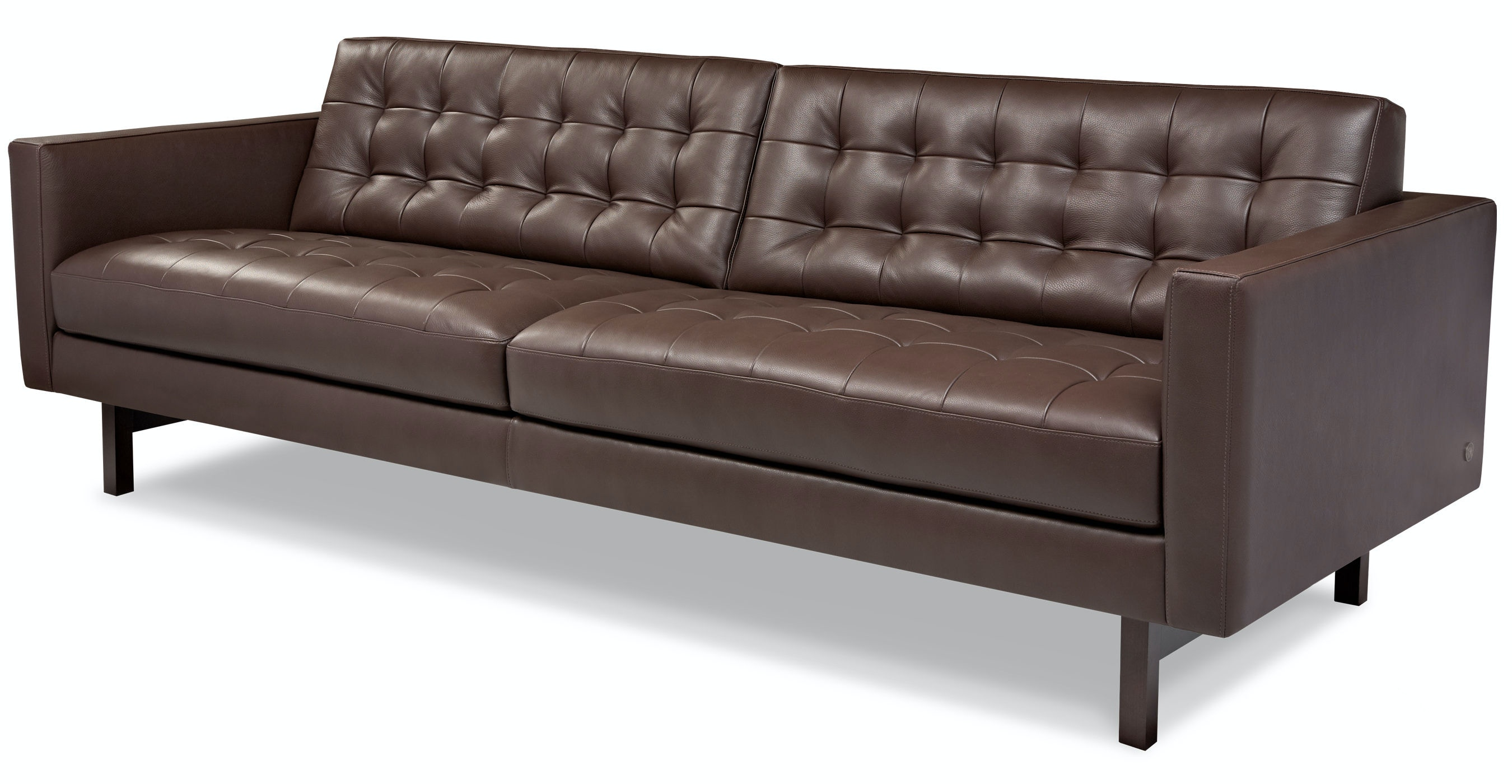 American Leather Living Room Two Cushion Sofa Pkr Sm2 St