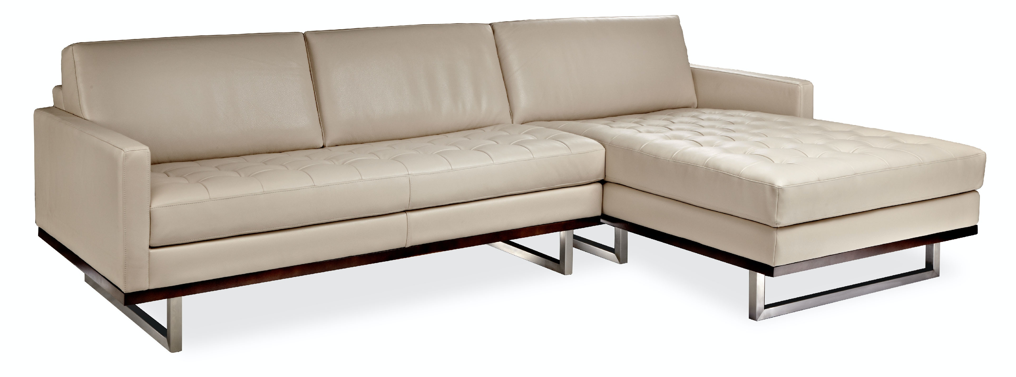 American leather living room tristan sectional bartlett for Bartlett caramel left corner chaise sectional