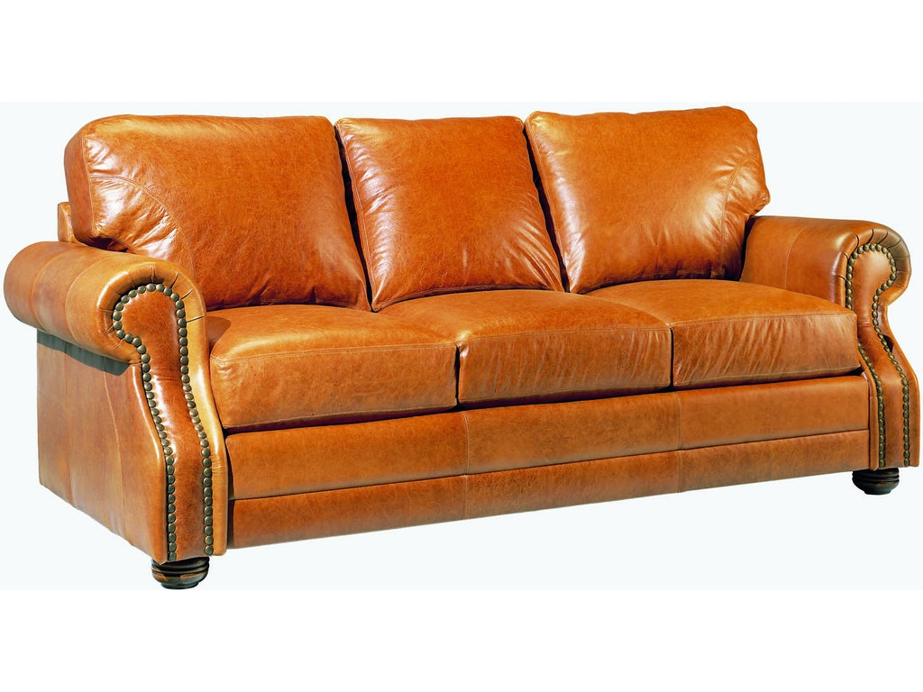 Legacy Leather Living Room Houston Sofa Bed Hickory