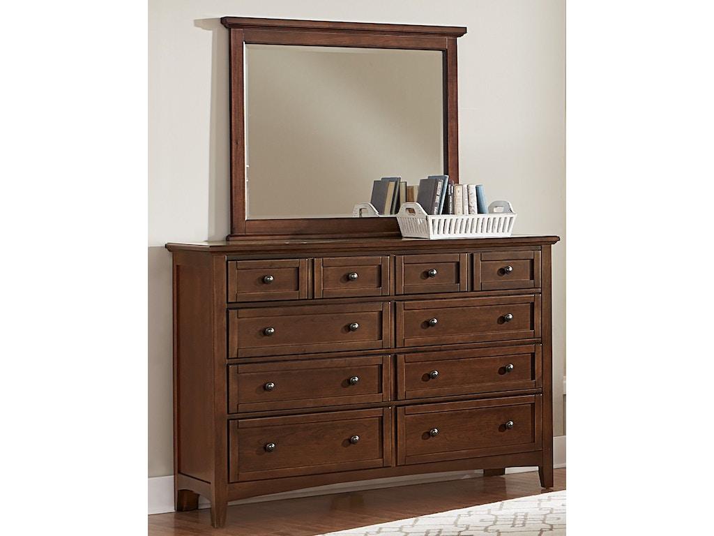 Vaughan Bassett Furniture Company Bedroom Triple Dresser Bb28 002 Bacons Furniture Port