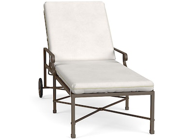 Brown Jordan Adjustable Chaise With Wheels 2250-7700