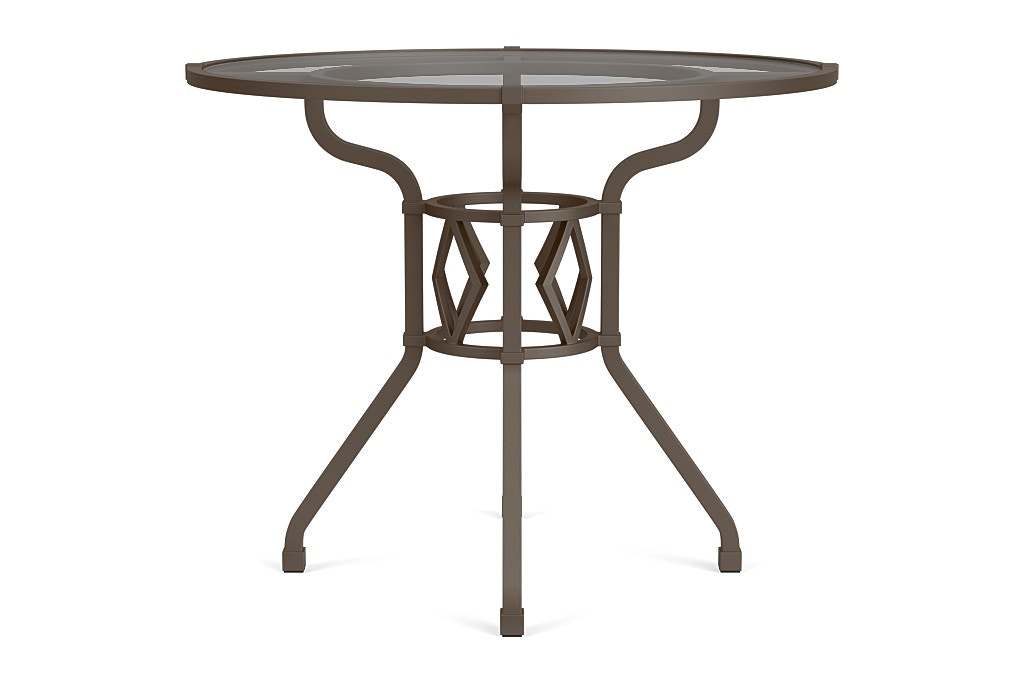 Brown Jordan Outdoorpatio 36 Round Dining Table With Glass Top 2255