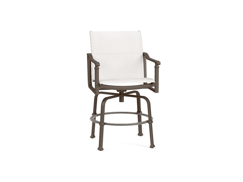 Brown jordan outdoor patio swivel bar chair 4320 3600 for Chaise wayne