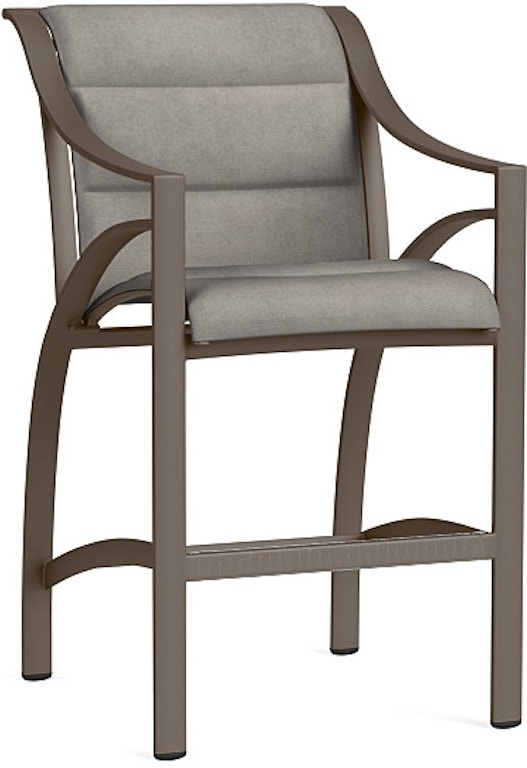 Excellent Brown Jordan Outdoor Patio Bar Chair With Padded 5240 3500 Best Image Libraries Barepthycampuscom