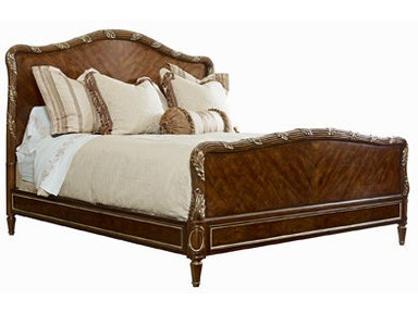 Henredon Bed, 6/6 (King) With Wood Headboard/Footboard 2706-12HF