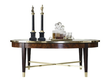Henredon Oval Cocktail Table 2800-40G