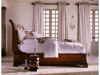 Henredon Sleigh Bed, 6/6 (King) 6201-12-93