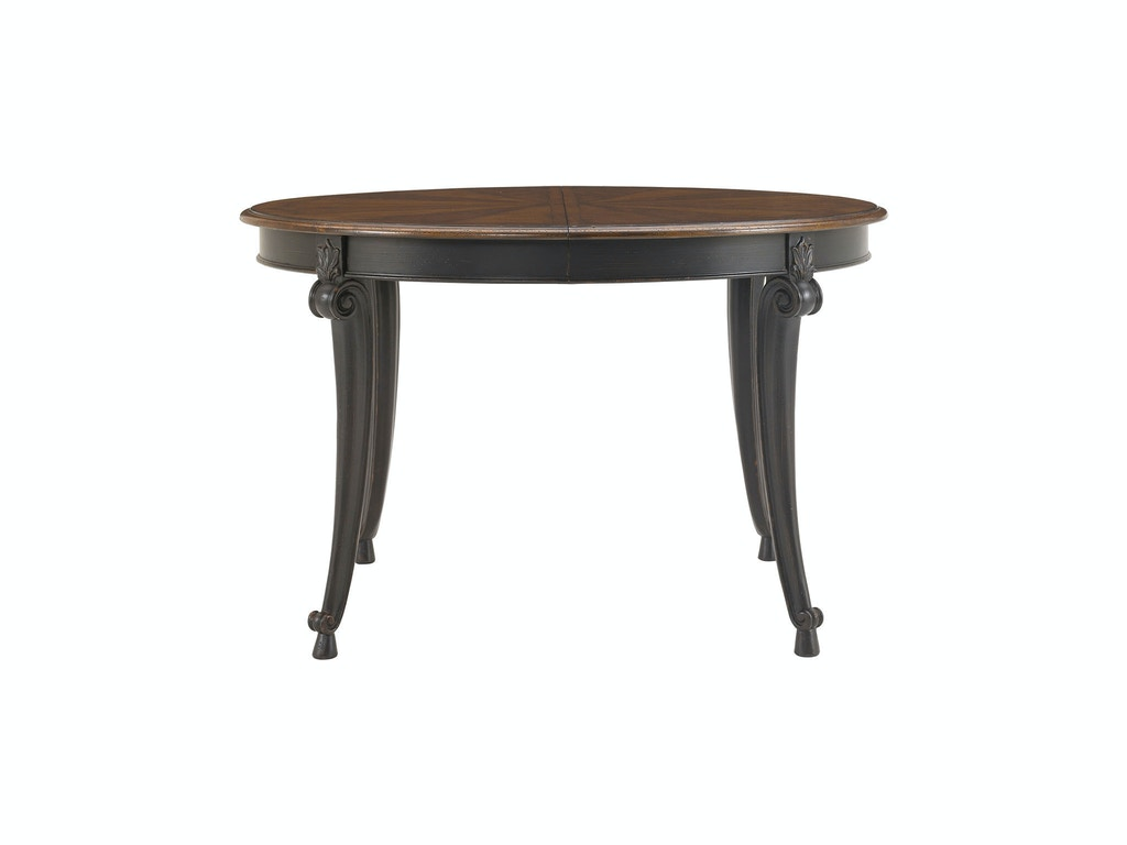 Drexel heritage dining room table ronde round table 311 for Table ronde 4 chaises