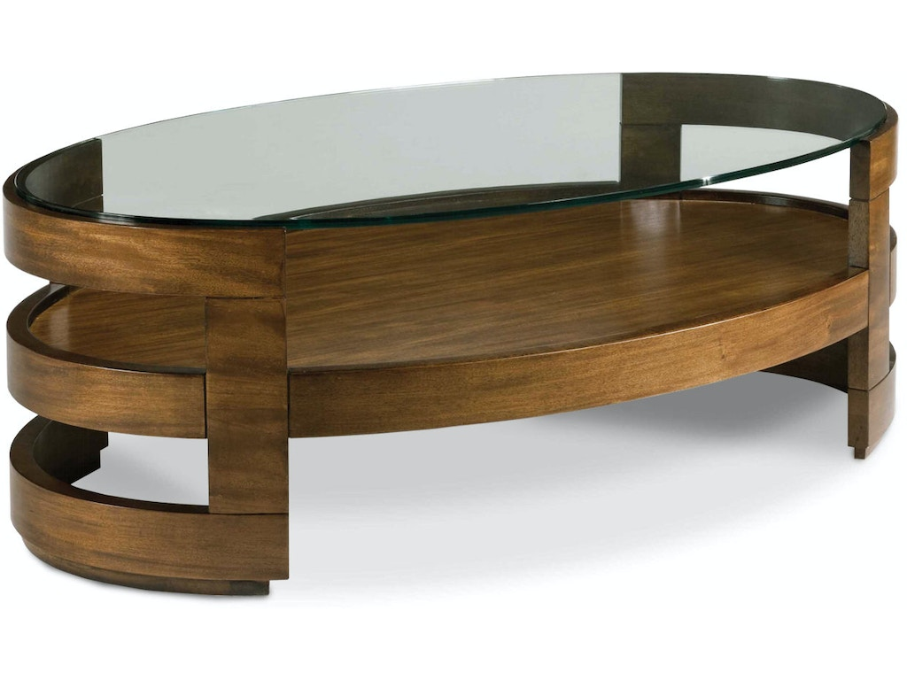 Drexel Living Room Eaves Oval Cocktail Table 590 800