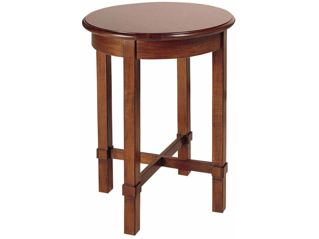 Drexel living room round end table 925 843 drexel for Round side tables for living room