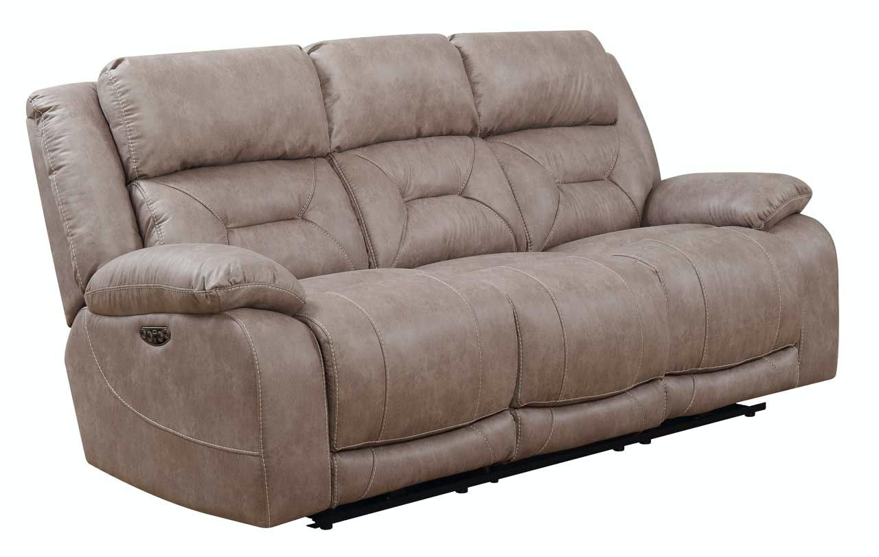 Steve Silver Living Room Aria Pwr Pwr Recliner Sofa, Desert Sand AA950SS   Kaplans  Furniture   Elyria, OH