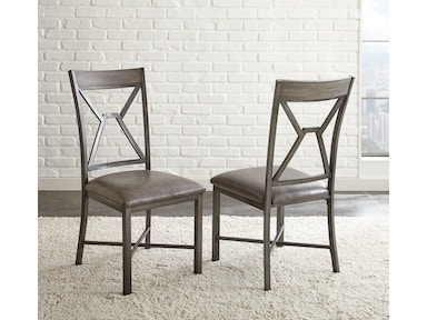 Steve Silver Alamo Gray PU Side Chair AL450S