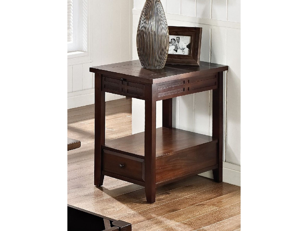 Crawford Street Living Room Crestline Chairside Table