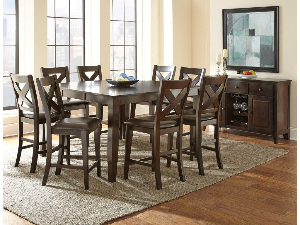 Steve Silver Dining Room Crosspointe Counter Table Cp700pt Kemper Home Furnishings London