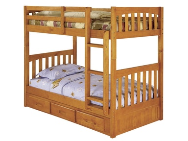 Honey Twin - Twin Mission Bunk