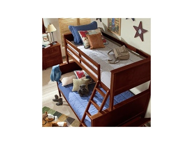 Schoolhouse Chocolate Twin-Full Bunk Bed
