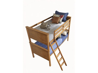 Casey Pecan Twin-Twin Bunk Bed