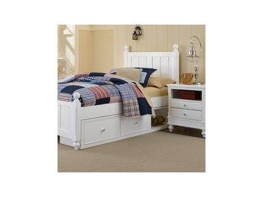 Hillsdale Kids and Teen Kennedy White Twin Bed 1020