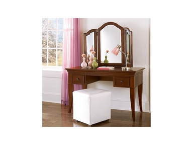 Hillsdale Kids and Teen Walnut Street Chestnut Desk And Vanity 9540