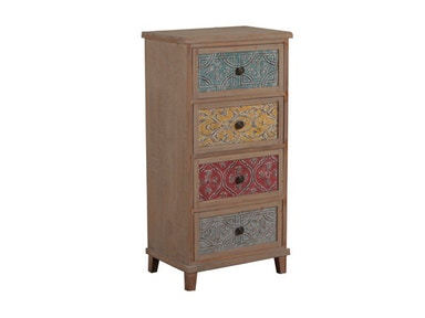 Powell Furniture Molly Driftwood And Colored Tall Cabinet 14A2015CH