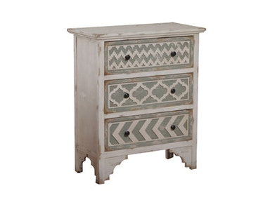 Powell Furniture White And Grey Wood Cabinet