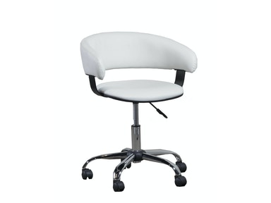 Powell Furniture White Gas Lift Desk Chair