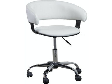 Powell Furniture White Gas Lift Desk Chair 14B2010W