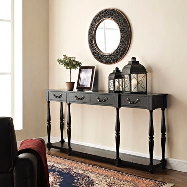 Good Powell Furniture Living Room Black Console 158 534 At New Ulm Furniture Co.