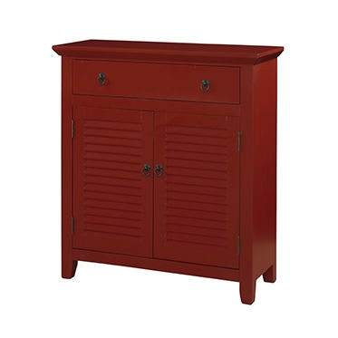 Powell Furniture Red Shutter 1 Drawer, 2 Doors Console 163 933