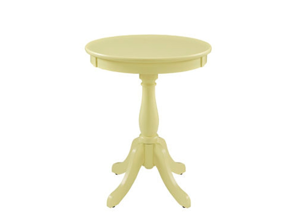 Powell Furniture Living Room Round Buttercup Yellow Table 256 352