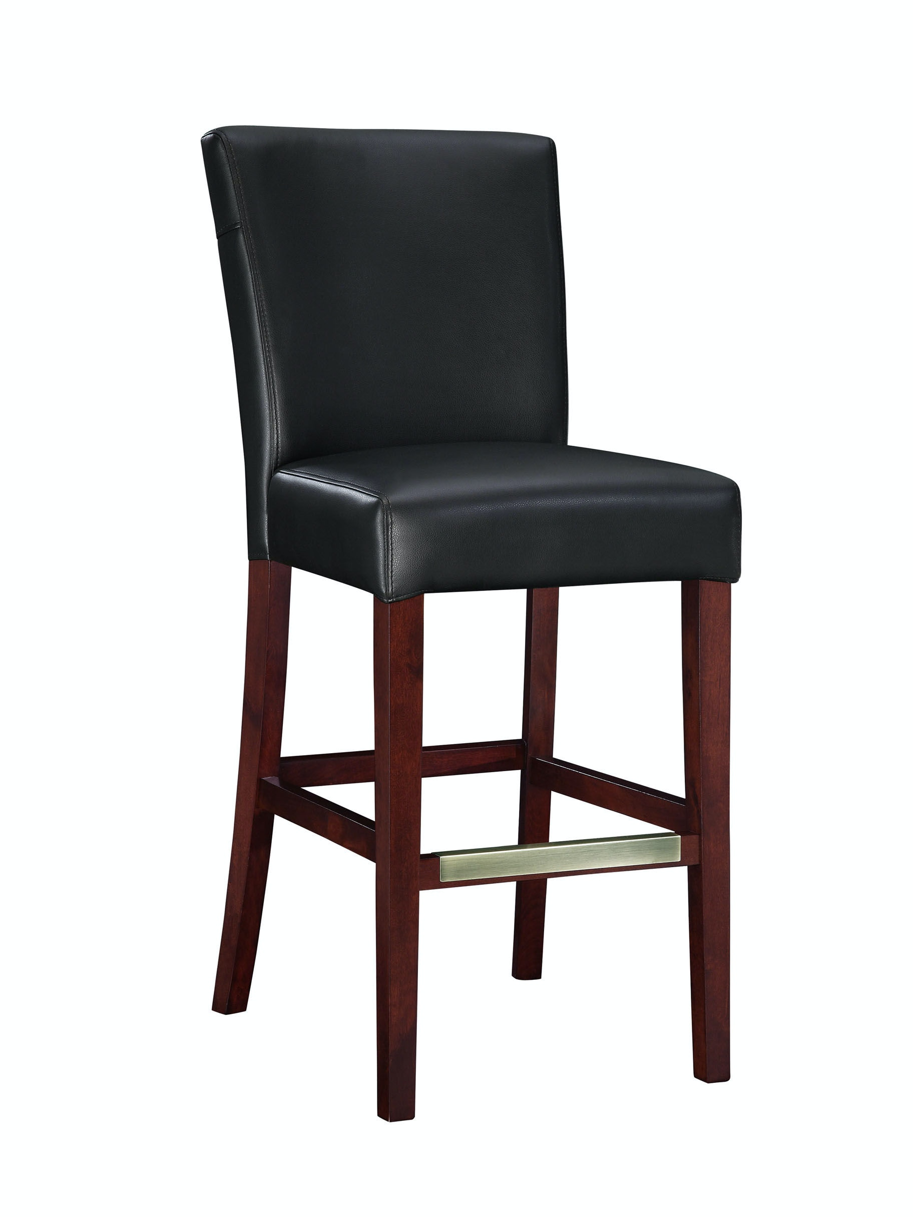 Powell Furniture Bar And Game Room Black Bonded Leather Bar Stool