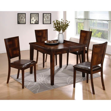 Powell Furniture Dining Room Flynn Exotic Black 5 Pc