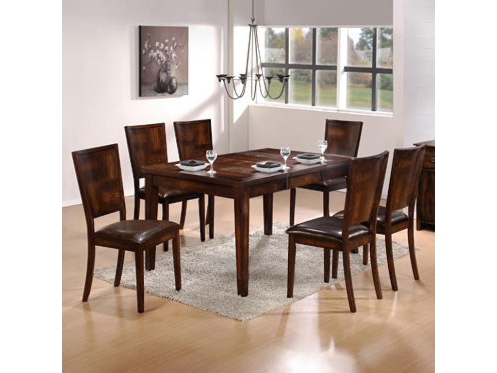 Powell Furniture Dining Room 7 Pc Flynn Dining Set 1 377 417 Dining Tabl