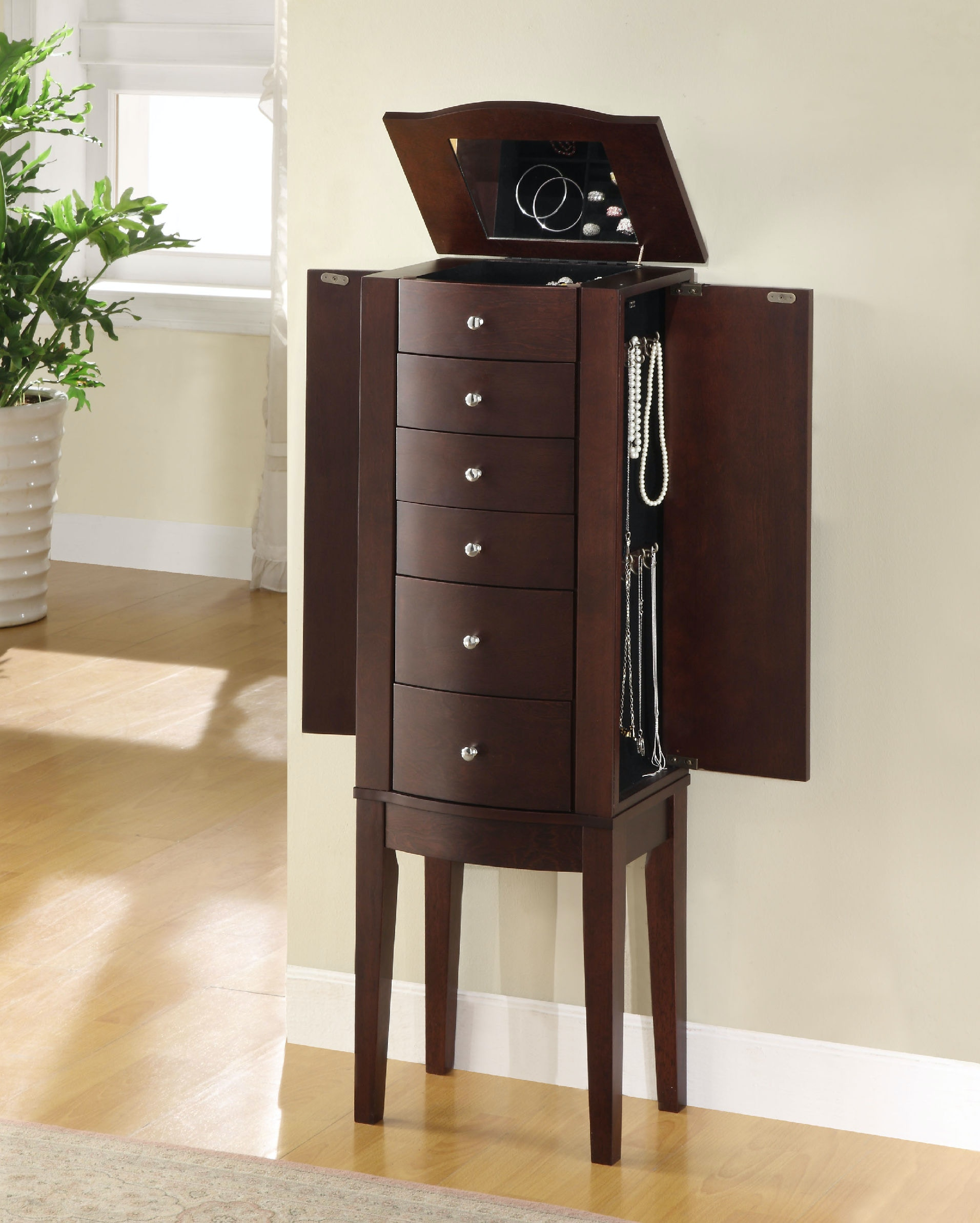 Powell Furniture Merlot Jewelry Armoire 398 315