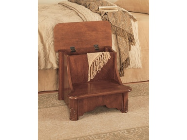Powell Furniture Accessories Woodbury Mahogany Bed Steps With Storage -  Overpacked