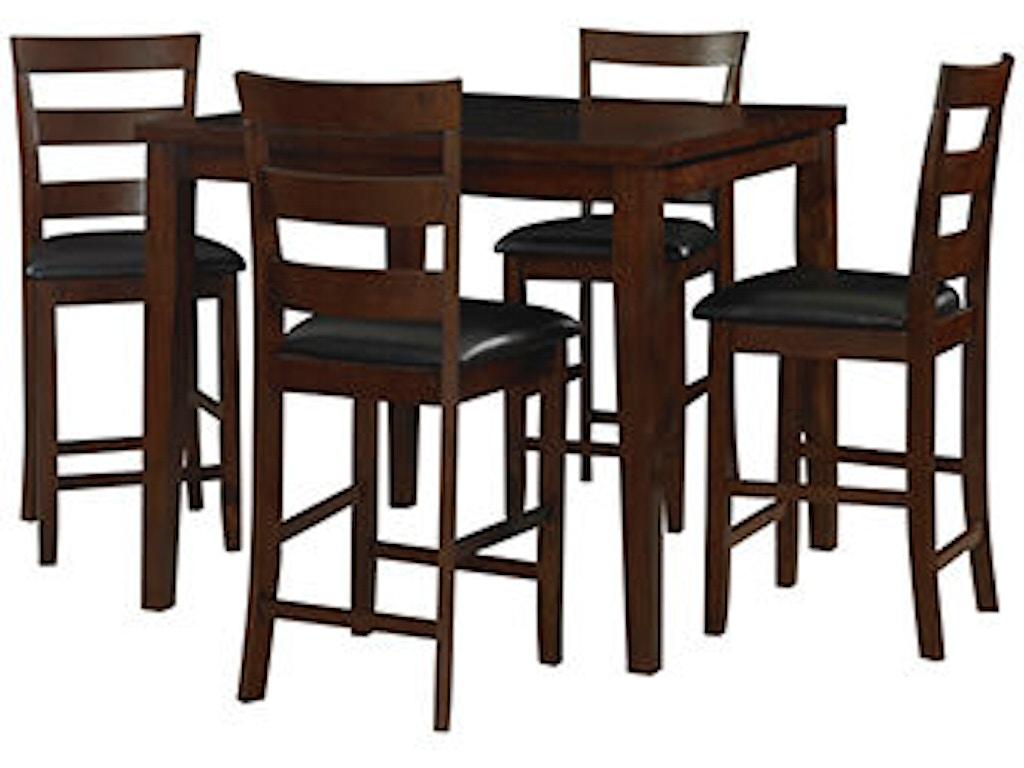 Powell Furniture Dining Room Tremont 5 Piece Counter Set 543 730 Klingman