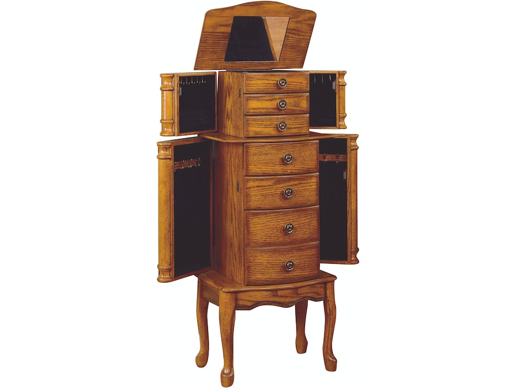 Powell furniture accessories walnut cheval jewelry for Furniture lubbock