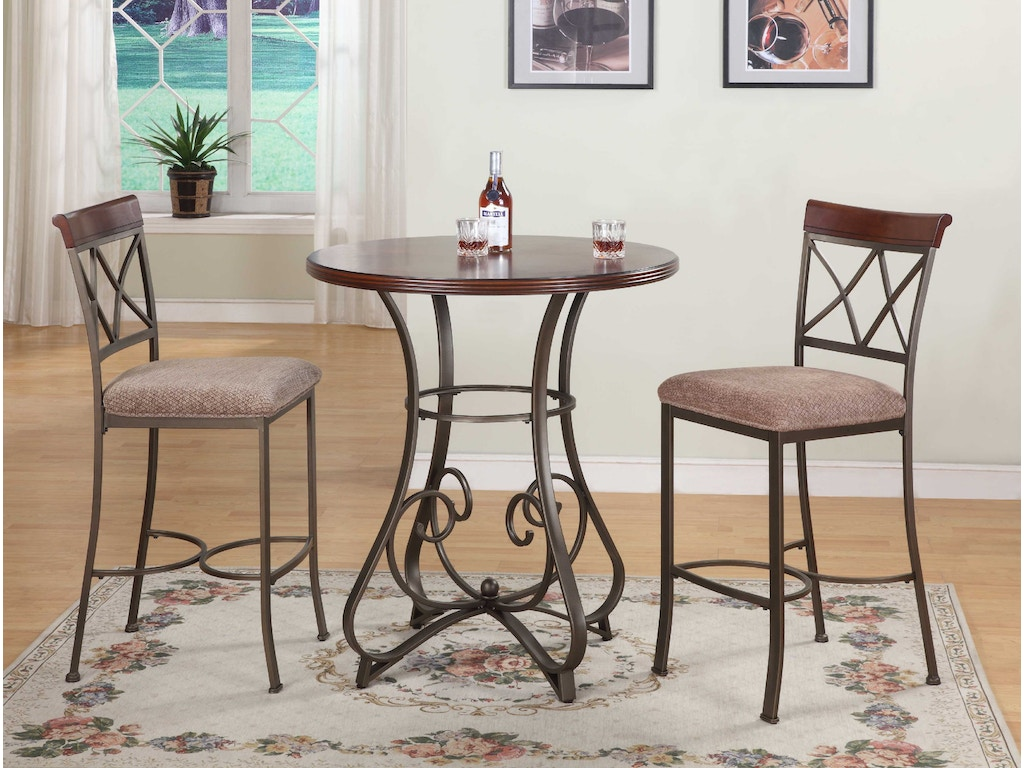 Powell furniture dining room 3 pc hamilton pub set 1 for 3 pc dining room set