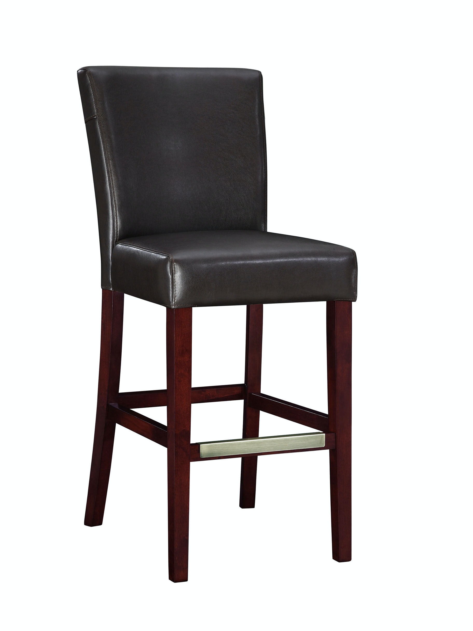Powell Furniture Bar And Game Room Brown Bonded Leather Bar Stool