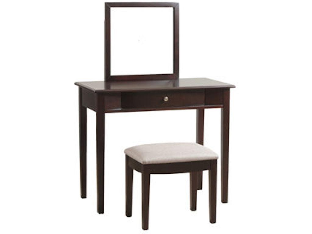 powell furniture bedroom merlot vanity 809 290 simply