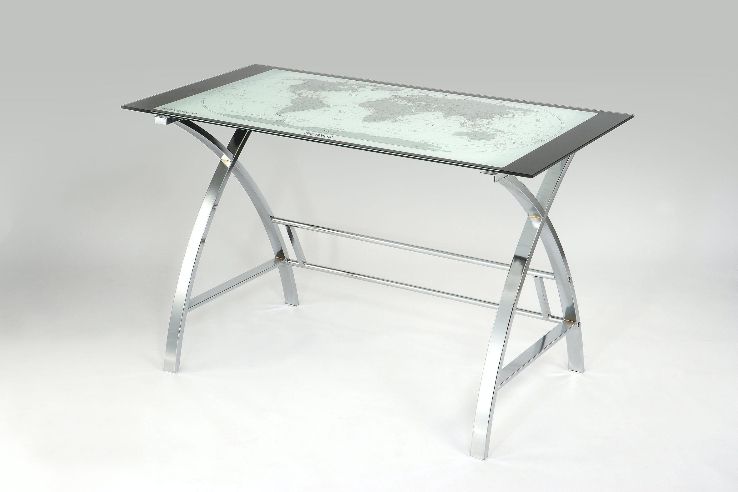 office world desks.  World Powell Furniture World Map Printing Curved XSided Computer Desk 942240 In Office Desks U