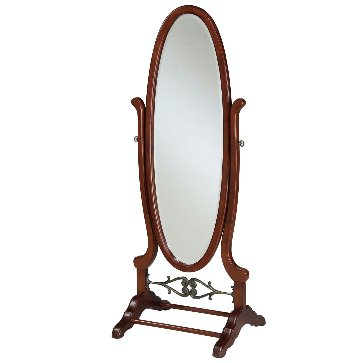 Powell Furniture Accessories Heirloom Cherry Cheval Mirror 998 773