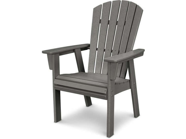 Polywood Outdoor Patio Nautical Adirondack Dining Chair Add610