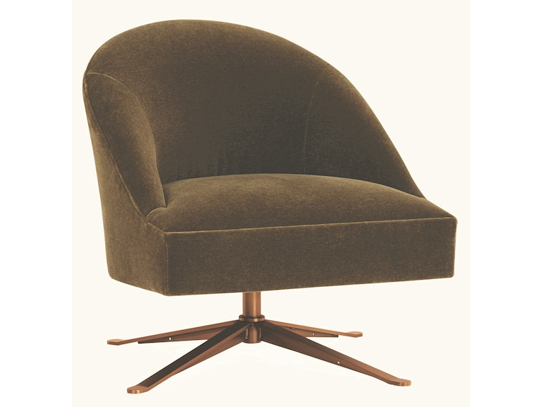 Lee Industries Living Room Leather Swivel Chair L5909-01SW - Georgia ...